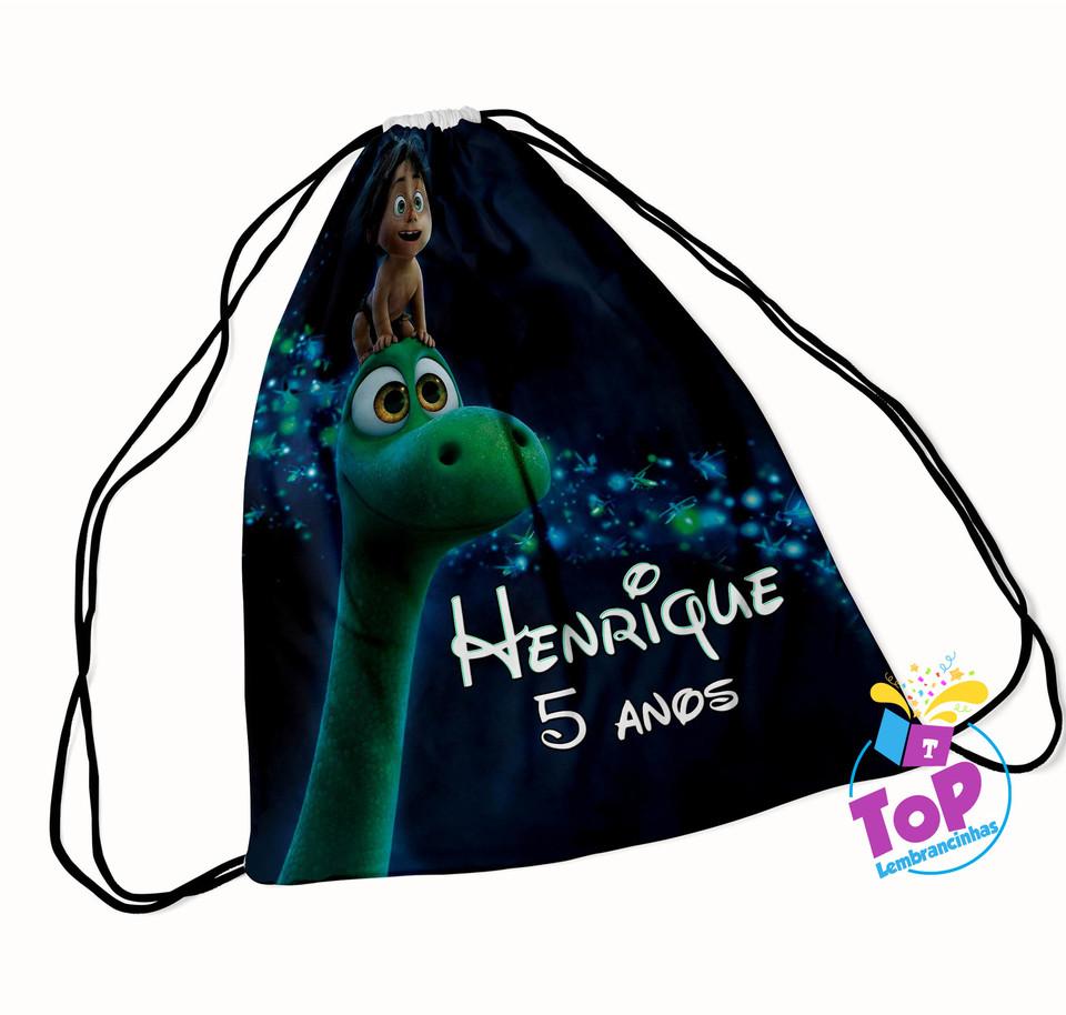 Mochila saco O Bom Dinossauro 20x30cm - Modelo2