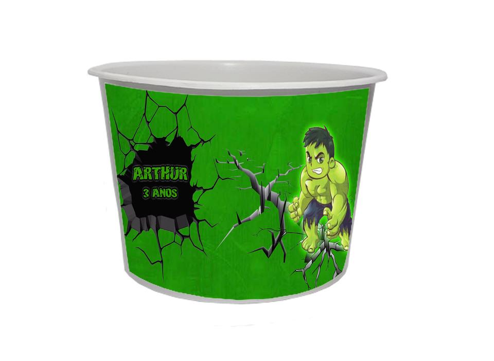Lembrancinha Hulk Baby - Baldinho personalizado 1,5L