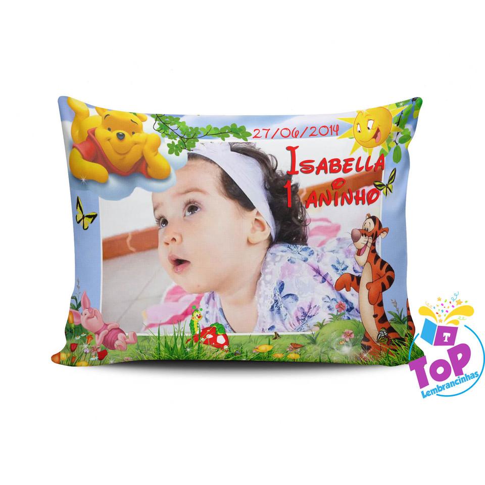 Lembrancinha Ursinho Pooh - Almofada personalizada 15x20cm