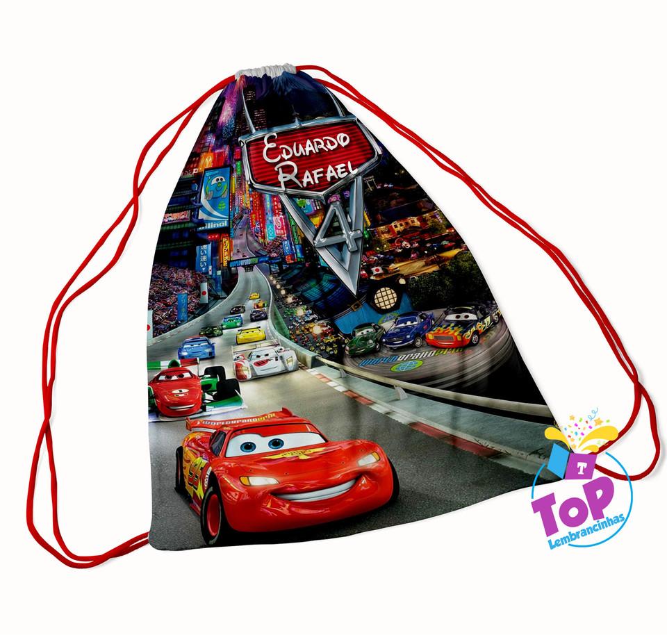 Mochila saco Carros Disney 20x30cm - Modelo 2