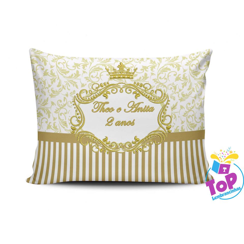 Lembrancinha Coroa Princesa - Almofada personalizada 15x20cm Modelo 1