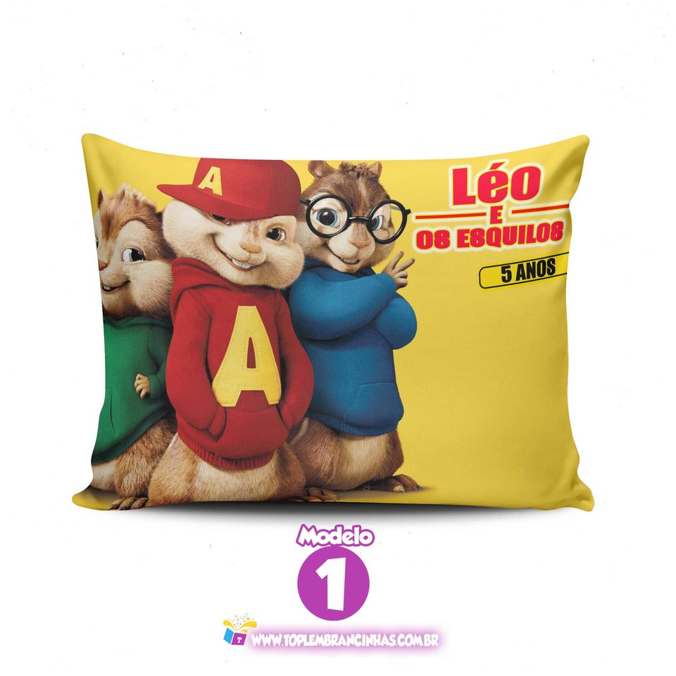 Lembrancinha Alvin e os esquilos - Almofada personalizada 20x30cm