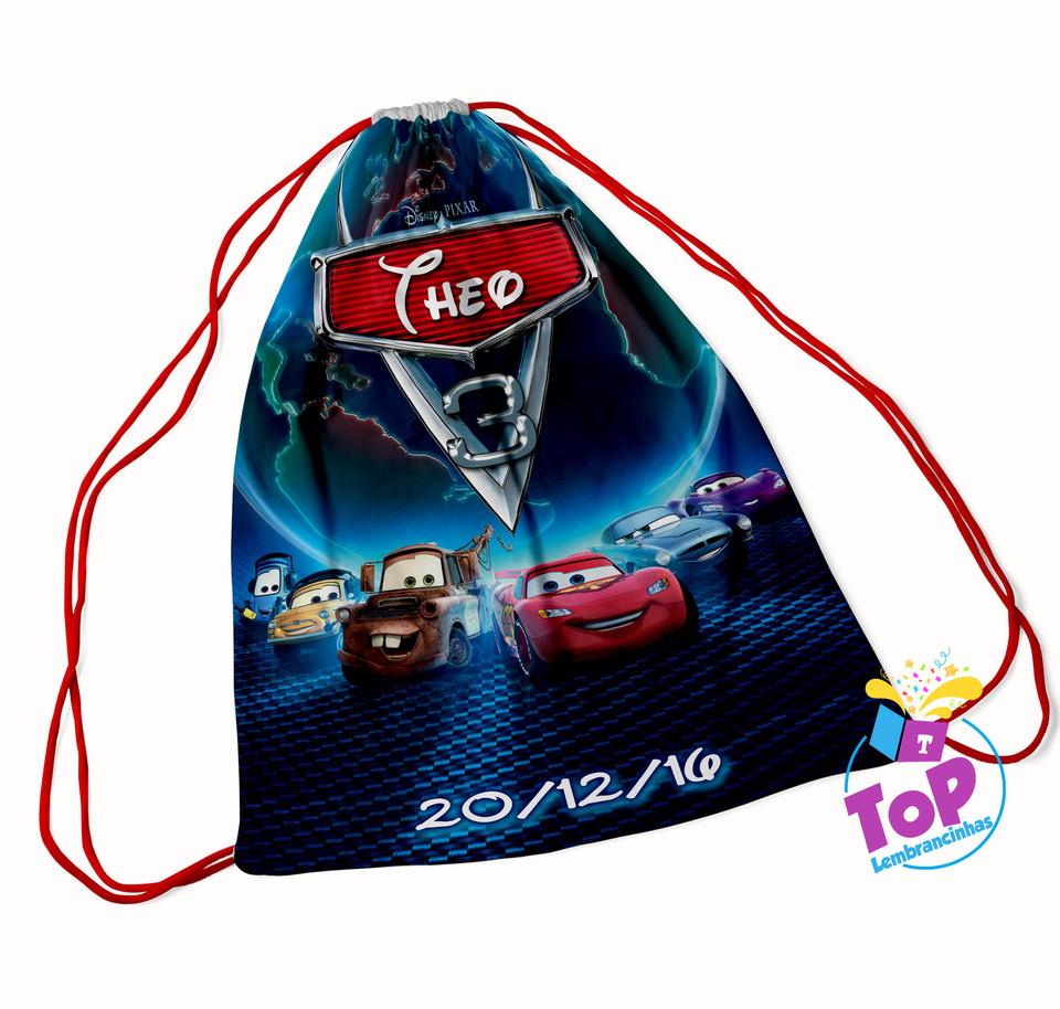 Mochila saco Carros Disney - Modelo 1