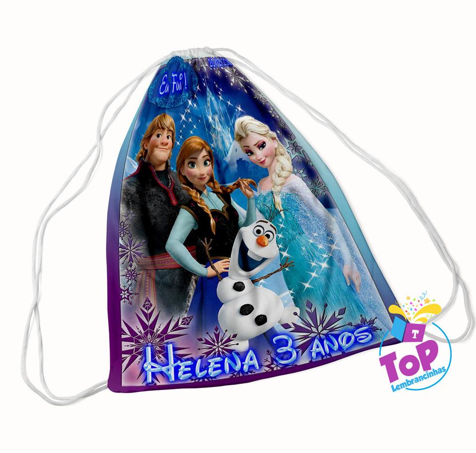 Mochila saco Frozen 20x30cm - Modelo 4