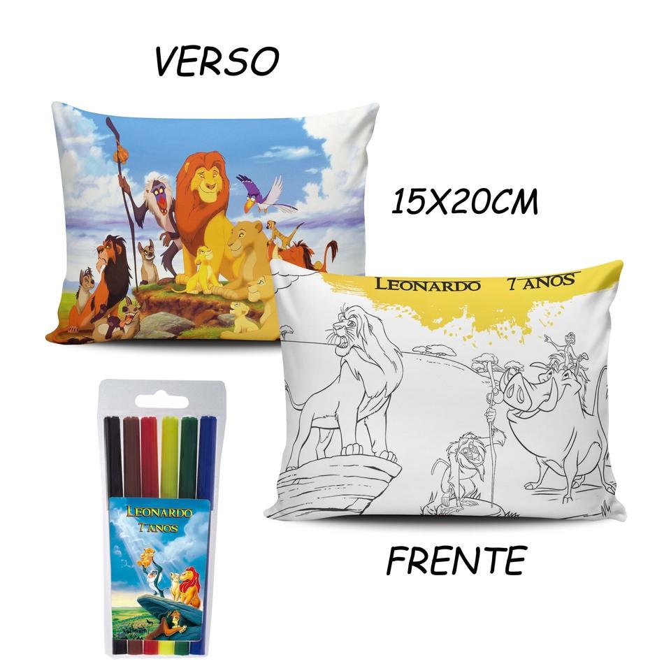 Lembrancinha Rei Leão - Almofada Pinte e Lave 15x20cm Modelo 2