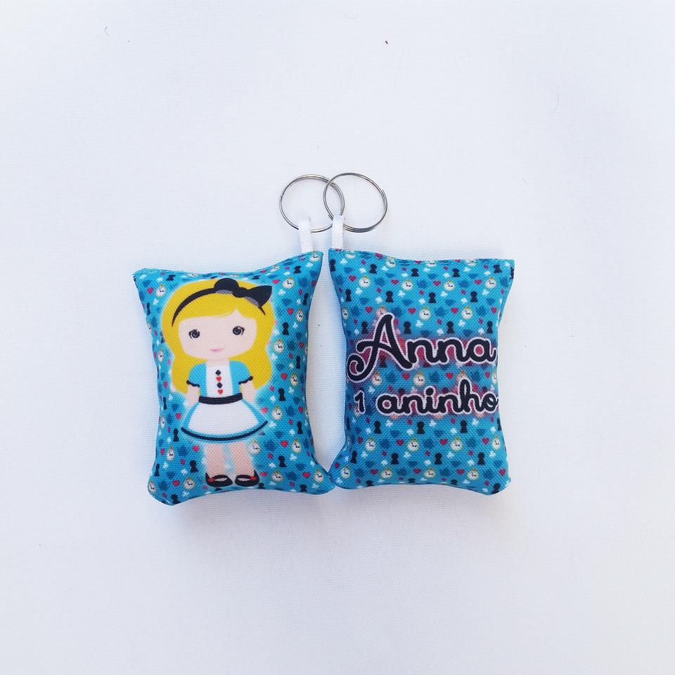 Almochaveiro personalizado Alice no País das Maravilhas 7x5cm