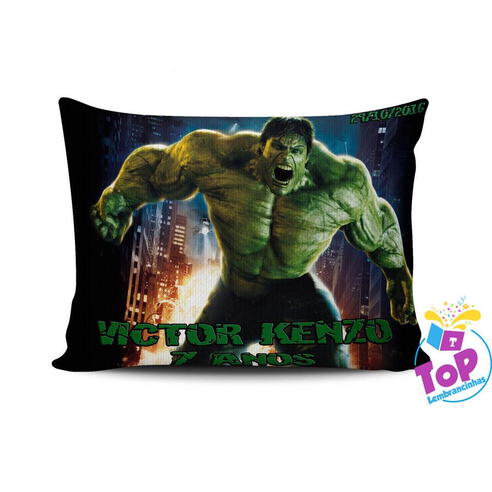 Lembrancinha Hulk - Almofada personalizada 15x20cm