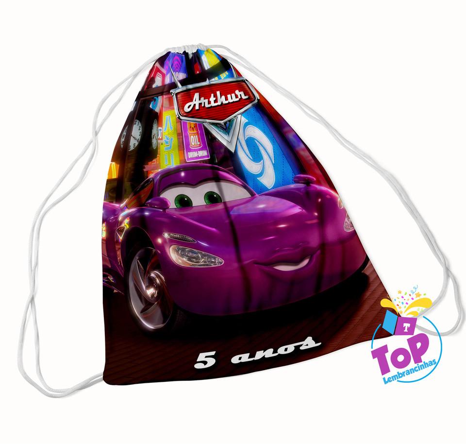 Mochila saco Carros Disney 20x30cm - Modelo 4
