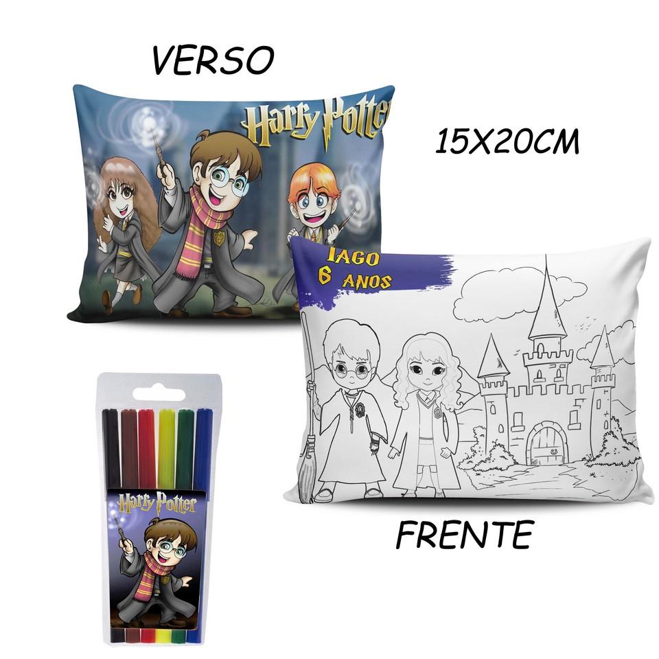 Lembrancinha Harry Potter - Almofada Pinte e Lave 15x20cm