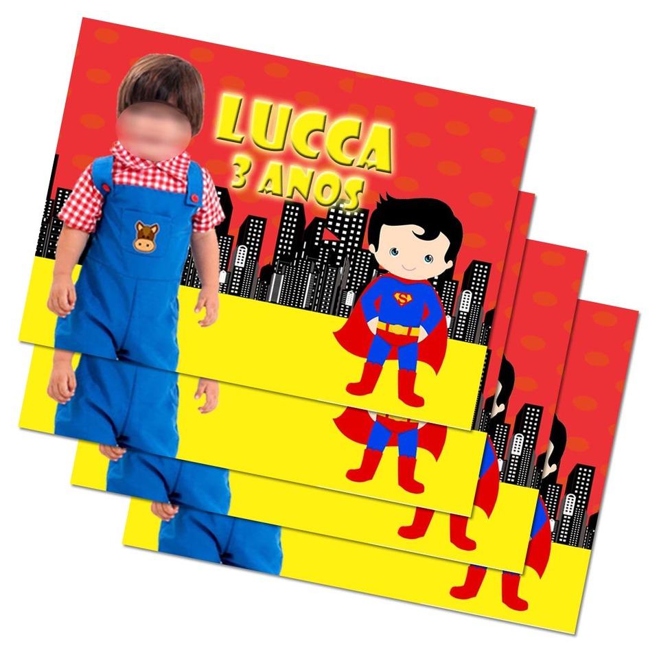 Lembrancinha Super Man - Imã de geladeira 7x5cm