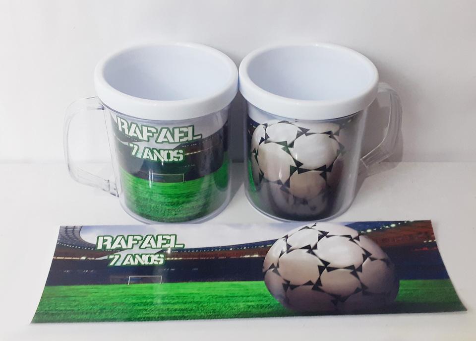 Lembrancinhas Futebol - Caneca de acrílico 380 ml