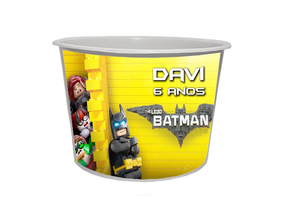 Lembrancinha Batman Lego - Baldinho personalizado 1,5L
