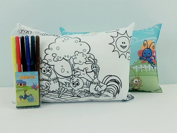 Almofada para pintar com canetinha 20x30 cm - Qualquer Tema