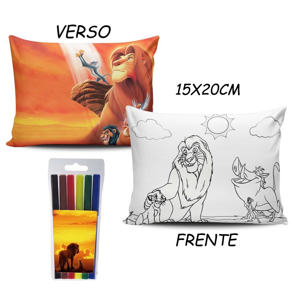 Lembrancinha Rei Leão - Almofada Pinte e Lave 15x20cm Modelo 1