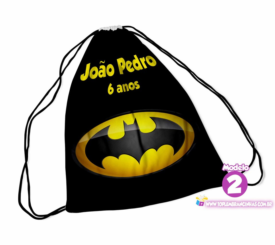 Mochila saco do Batman 30X40 cm - Lembrancinha de aniverário