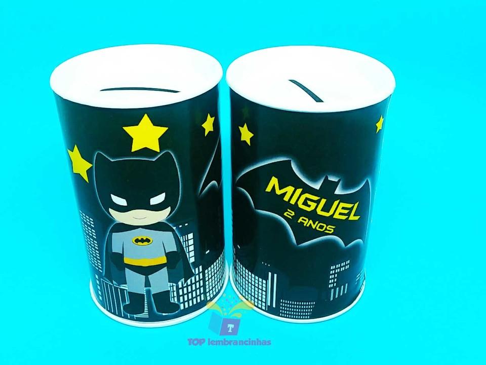 Cofrinho personalizado Batman 11x6 cm