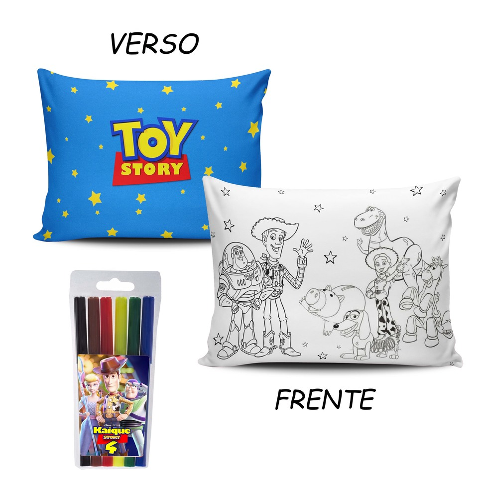Lembrancinha Toy Story - Almofada Pinte e Lave 15x20cm Modelo 1