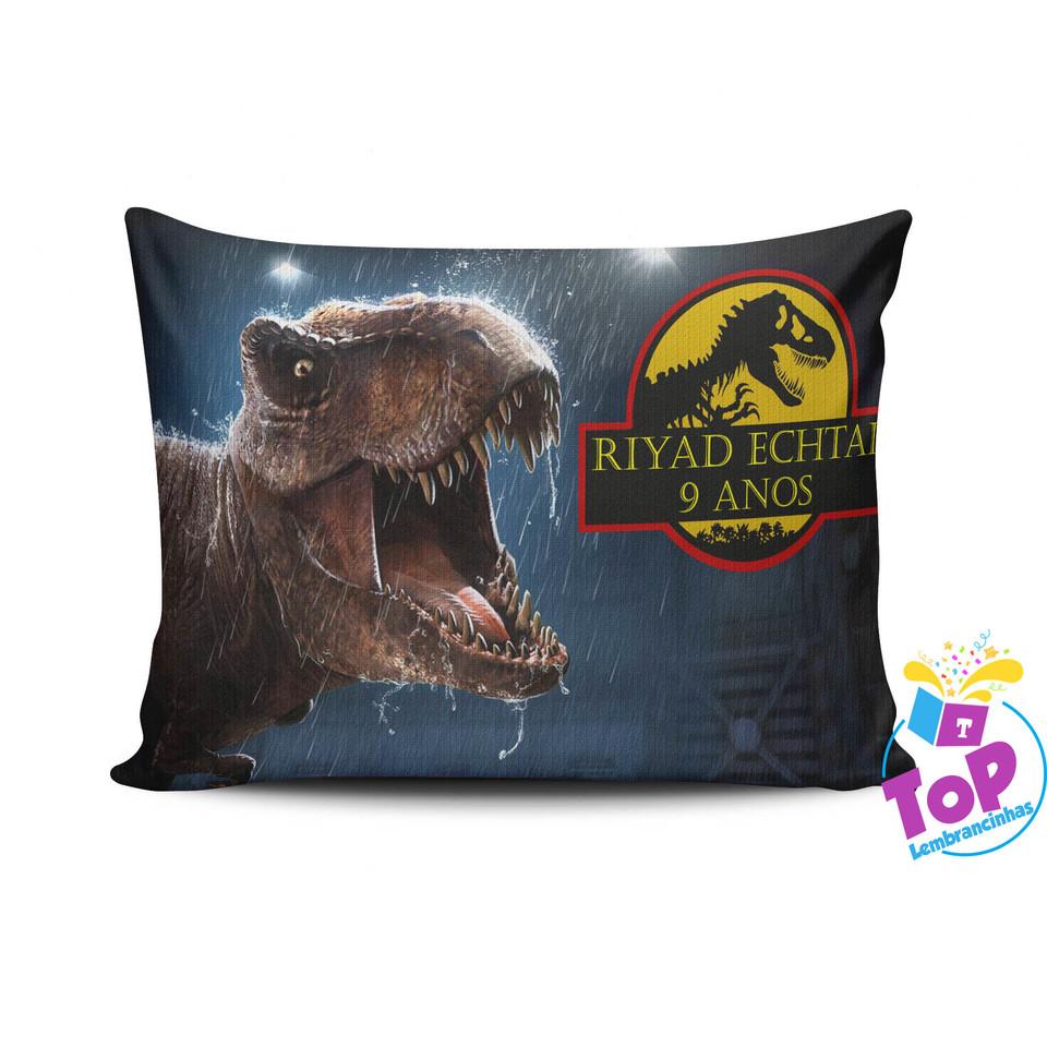 Lembrancinha Dinossauro - Almofada personalizada 15x20cm Modelo 1