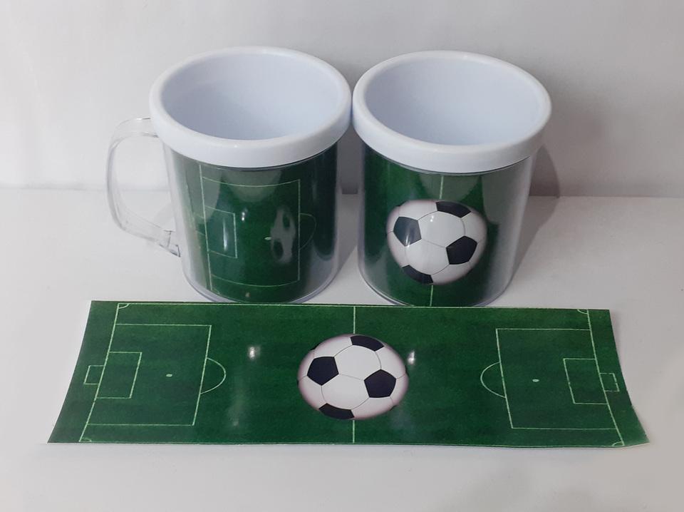 Lembrancinha Futebol mod 3 - Caneca de acrílico 380 ml
