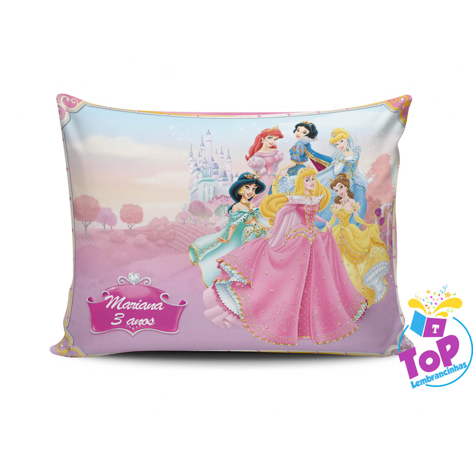 Lembrancinha Princesas Disney - Almofada personalizada 15x20cm Modelo 3