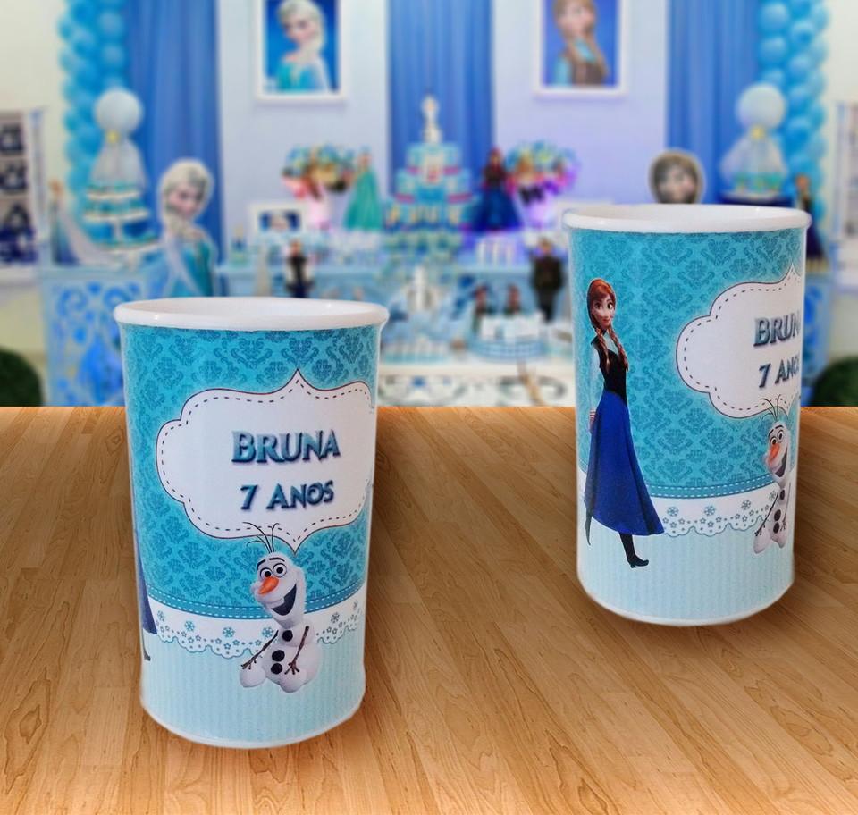 Cofrinho personalizado Frozen - Personalizamos no tema da sua festa