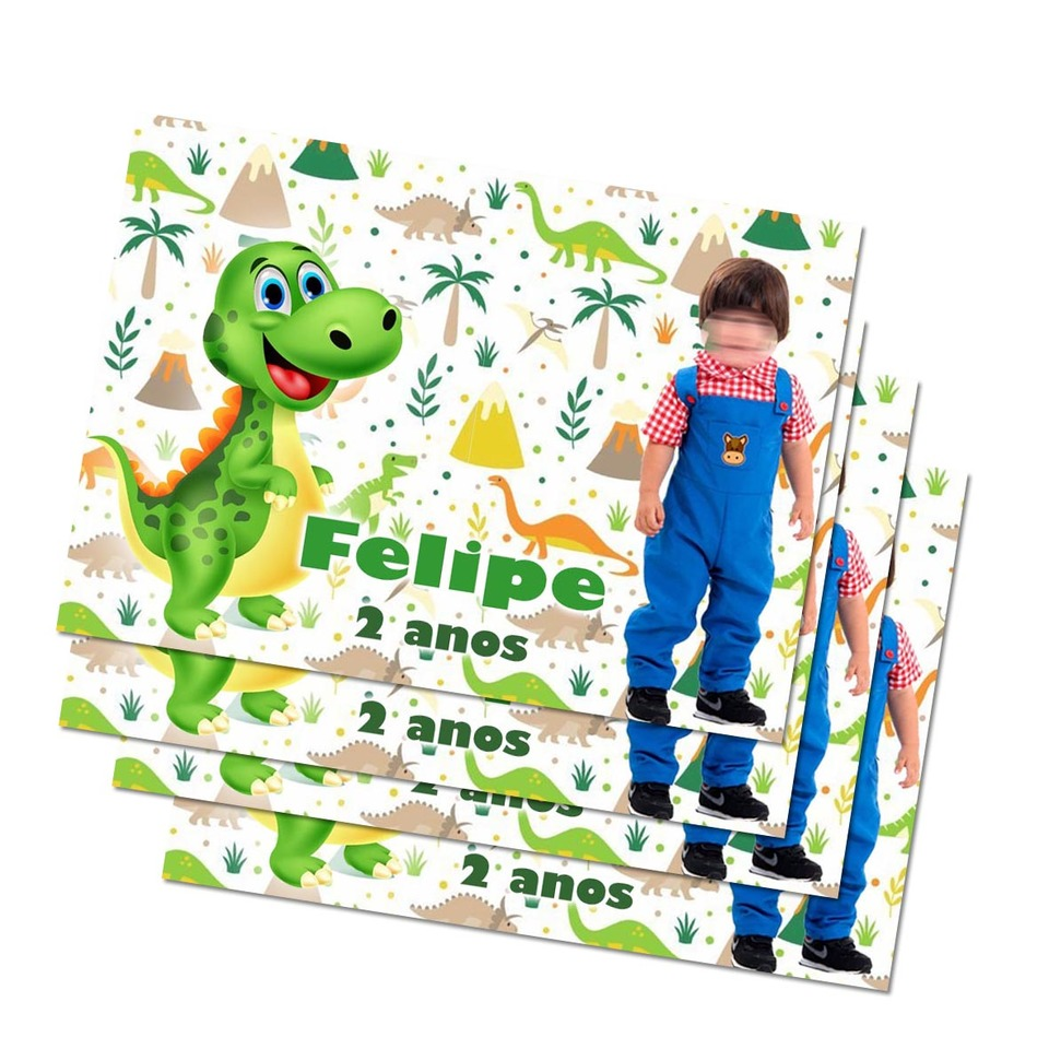 Lembrancinha Dinossauro - Imã de geladeira 7x5cm
