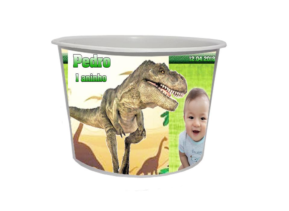 Lembrancinha Dinossauro - Baldinho personalizado 1,5L