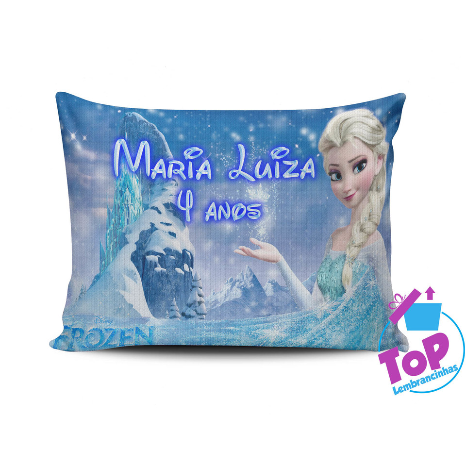 Lembrancinha Frozen - Almofada personalizada 15x20cm Modelo 1