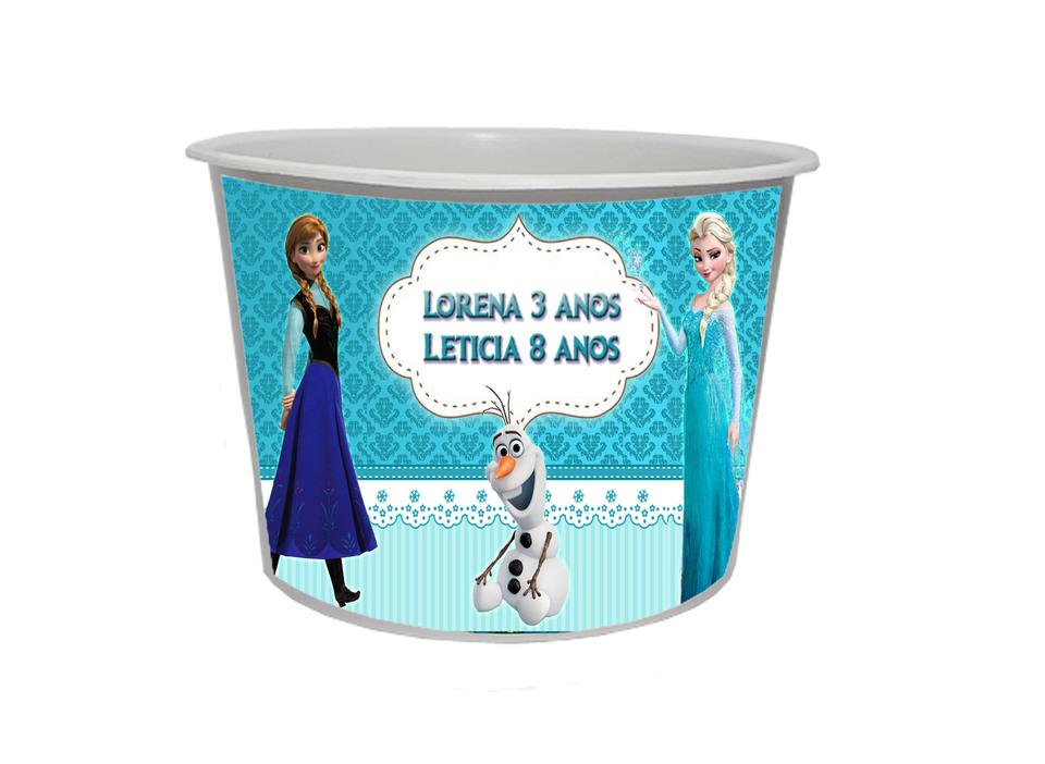 Lembrancinha Frozen - Baldinho personalizado 1,5L