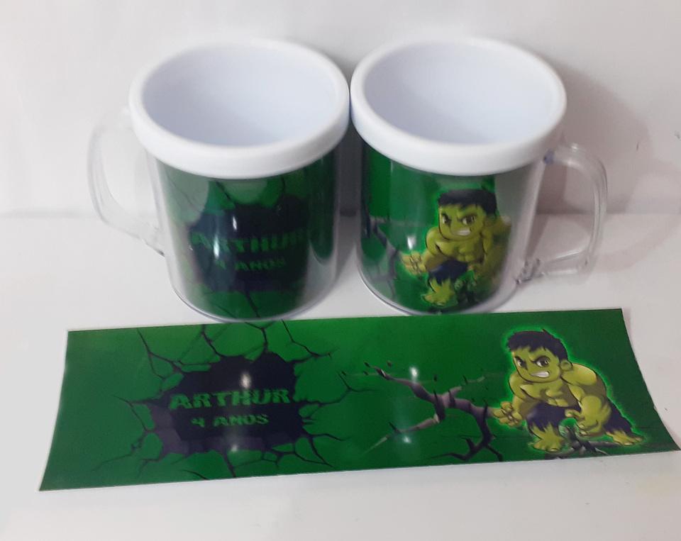 Lembrancinha Hulk - Caneca de acrílico 380 ml