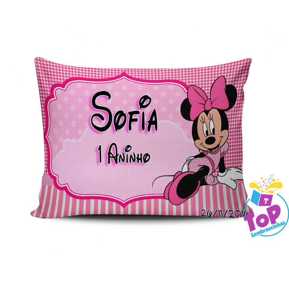 Lembrancinha Minnie Rosa - Almofada personalizada 15x20cm