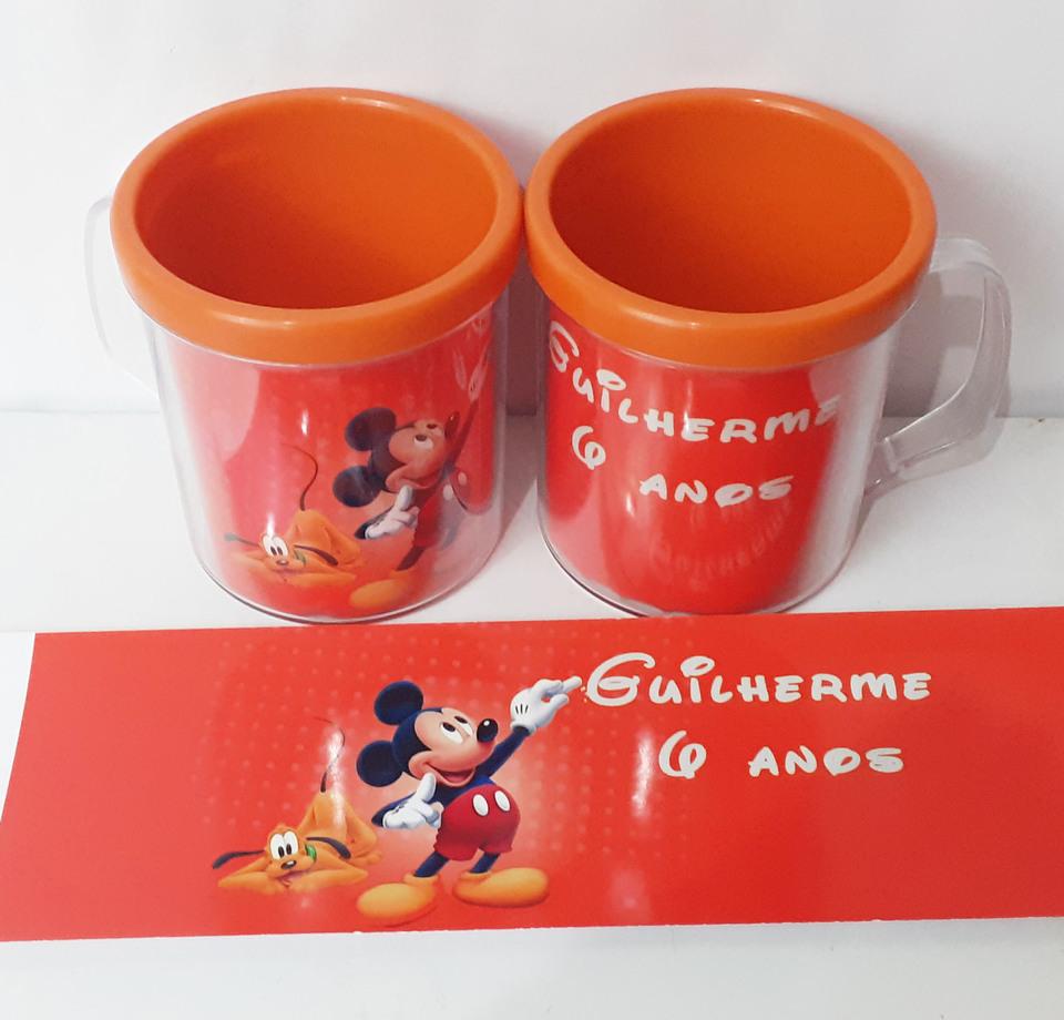Lembrancinhas Mickey - Caneca de acrílico 380 ml