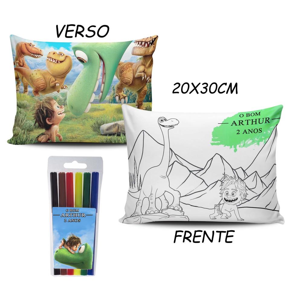 Lembrancinha O Bom Dinossauro - Almofada Pinte e Lave 20x30cm