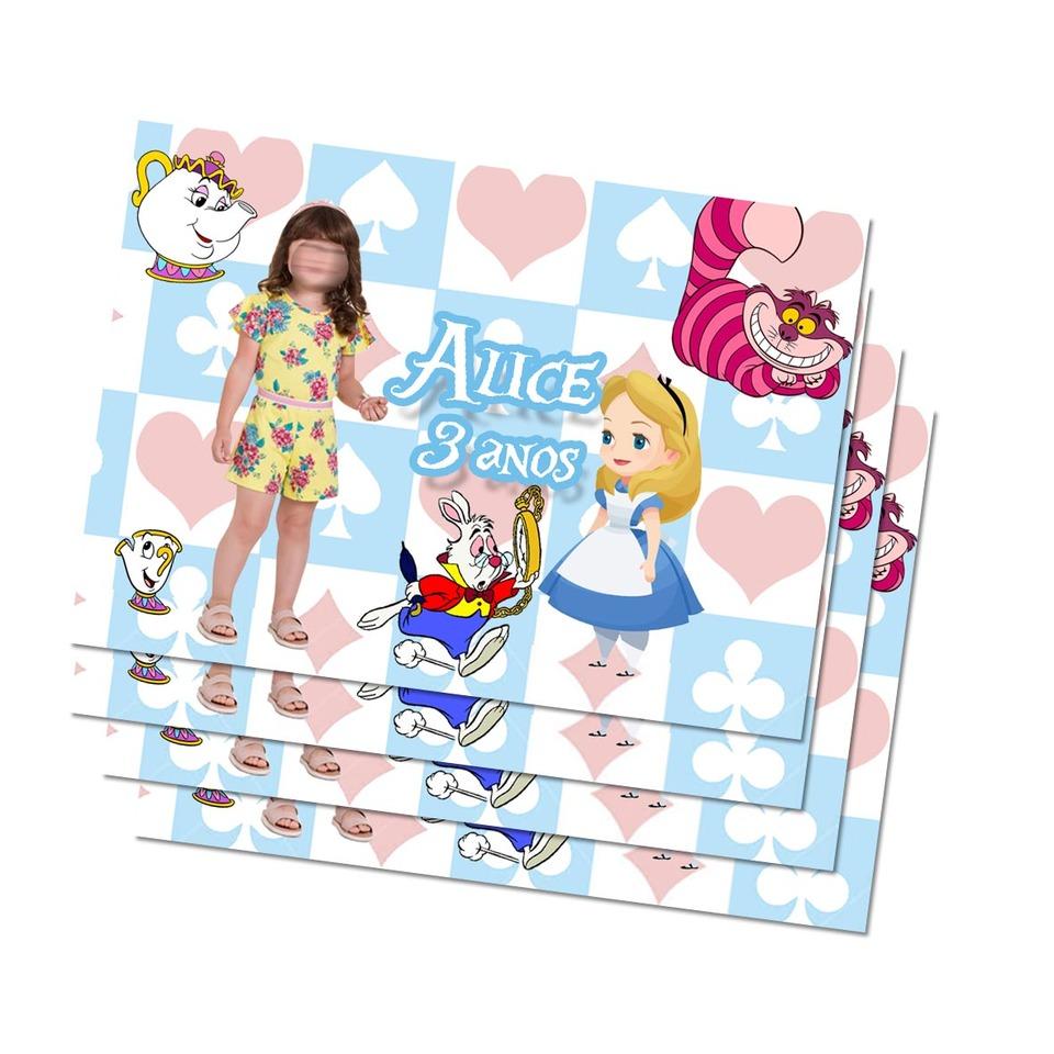 Lembrancinha Alice no país das maravilha - Imã de geladeira 7x5cm