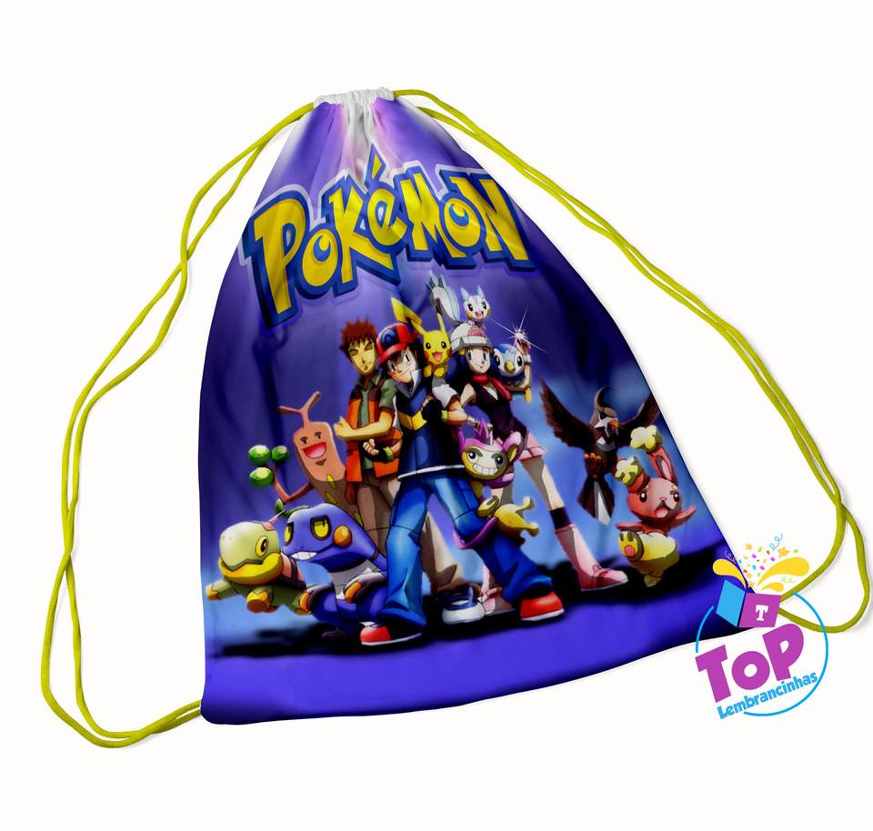 Mochila saco Pokemon 30x40cm - Modelo 2