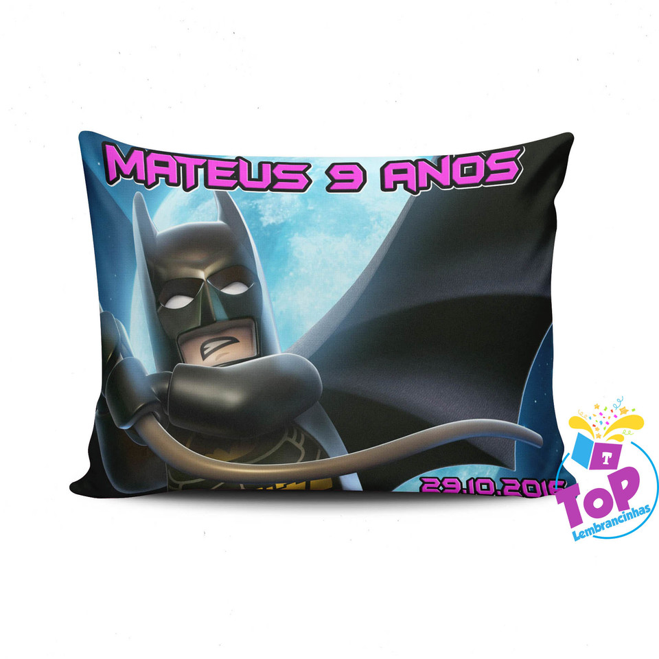 Almofada Batman Lego 15x20 cm - Lembrancinha
