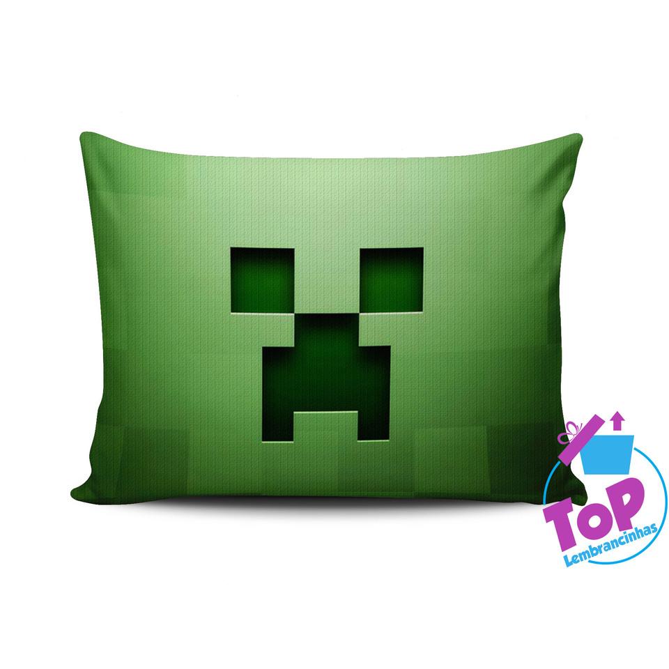 Lembrancinha Minecraft - Almofada personalizada 15x20cm Modelo 2