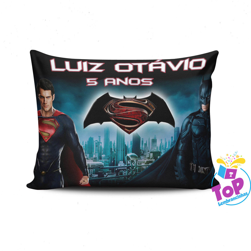 Lembrancinha Batman vs Superman - Almofada 30x40 cm