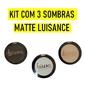Kit com 3 Sombras Matte Luisance