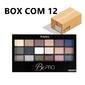 Box com 12 Paletas com 18 Sombras Ruby Rose Be Pro HB9929
