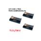 Kit com 3 Trio de Sombra para Sobrancelha com PRIMER Ruby Rose HB-9354