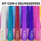Kit com 6 Delineadores Líquidos Coloridos Phállebeauty PH0302