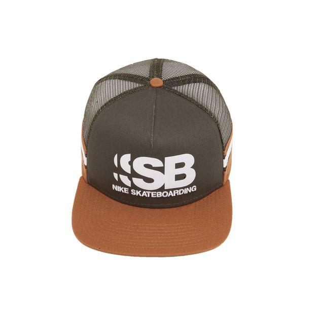 eaad380f37 Boné Nike Sb Cut Trucker - Caqui/Verde - Gamboa Surf Skate