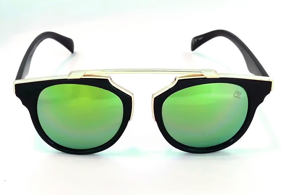 88f58c159b0b9 Óculos de sol feminino Club-R modelo 6117CR espelhado verde - Clube ...