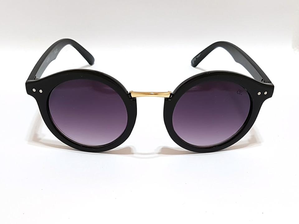 0f5467b5b1540 Óculos de sol feminino Retrô Round Club-R modelo K0006CR Lente Lilás Degradê