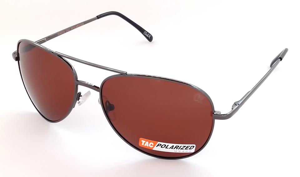 5906d21ac9356 Óculos de sol unissex aviador   aviator lente polarizada Club-R modelo  20805CR Marrom