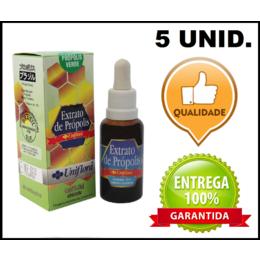 5 Frascos De Extrato de Própolis Verde 30 ml - Uniflora