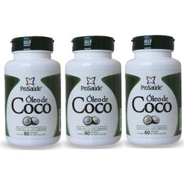 03 Óleo de Côco 60 Cápsulas de 1000mg