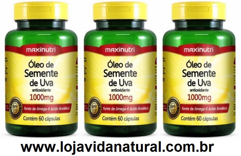 982f6aa7d 03 Óleo de Semente De Uva 60 Cápsulas de 1000mg - Maxinutri - Loja ...