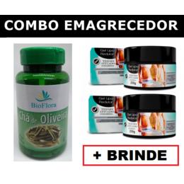 2 Chá de Oliveira em Cápsulas + 2 Géis Lipo Redutor + Brinde